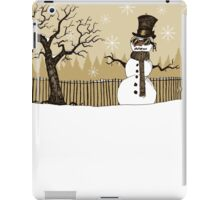 Snowman with goggles iPad Case/Skin