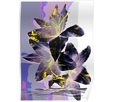 Abstract Lily in Purple Poster