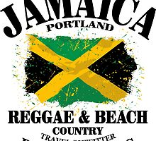 Jamaica Flag - Vintage Look by Port-Stevens
