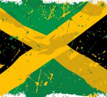Jamaica Flag - Vintage Look Sticker
