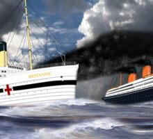 RMS Titanic and her sister the HMHS Britannic Sticker
