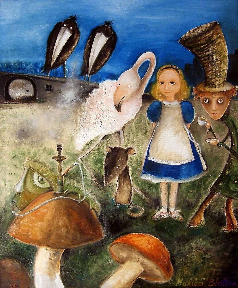 Bird Migration In Wonderland by Monica Blatton