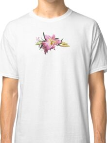 Lovely Pink Lilies Classic T-Shirt