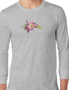 Lovely Pink Lilies Long Sleeve T-Shirt