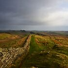 Stormy day on Hadrian's Wall by Joan Thirlaway