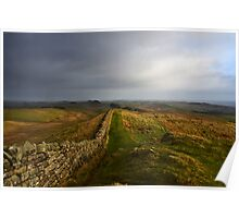 Stormy day on Hadrian's Wall Poster