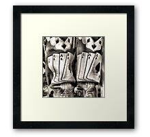 Four Of A Kind Framed Print