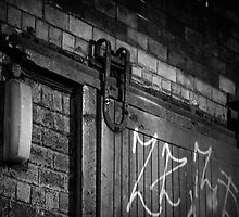Old door in a lane, Glasgow by KieranHamilton