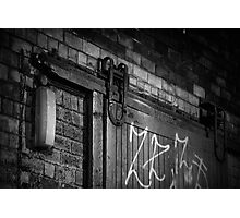 Old door in a lane, Glasgow Photographic Print