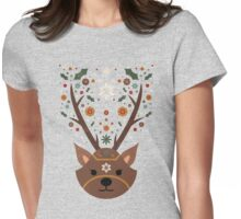 The Christmas Stag Womens Fitted T-Shirt