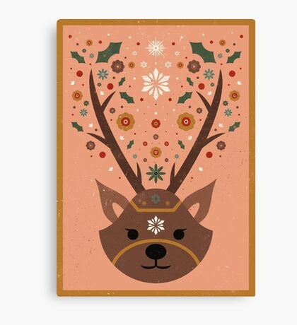 The Christmas Stag Canvas Print