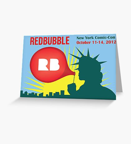 Redbubble Comic-Con Poster Greeting Card