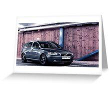Volvo V50 Greeting Card