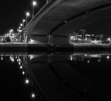 Kingston Bridge at night, Glasgow, Scotland by KieranHamilton