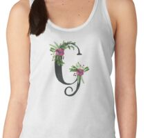 Monogram G with Floral Wreath Women's Tank Top