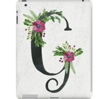 Monogram G with Floral Wreaths iPad Case/Skin