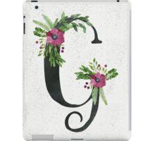 Monogram G with Floral Wreath iPad Case/Skin