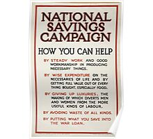 National savings campaign How you can help 432 Poster