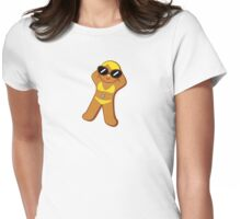 Tan Gingerbread Girl Womens Fitted T-Shirt