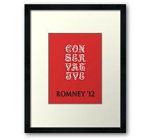Sever Conservative Framed Print