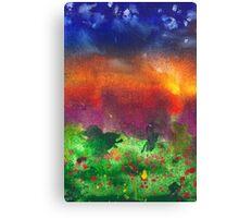 Abstract - Crayon - Utopia Canvas Print