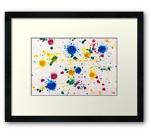 Abstract - Gesso & Food color - My new carpet Framed Print