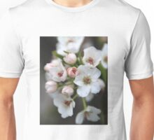 White and Pink Flowers Unisex T-Shirt