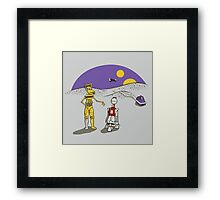 Not the Droids You're Looking For Framed Print