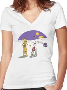 Not the Droids You're Looking For Women's Fitted V-Neck T-Shirt
