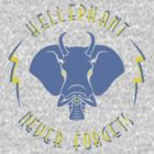 Hellephant - Impale Blue on Heather Grey by Koobooki