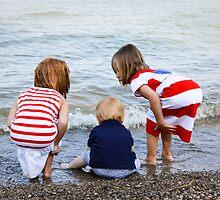 Grandchildren at the Beach by Robert Kelch, M.D.