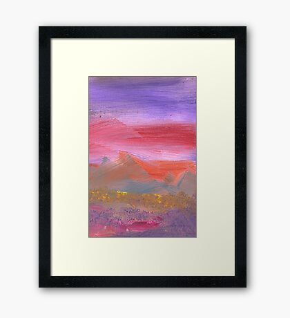 Abstract - Guash - Lovely meadows 1 of 2 Framed Print
