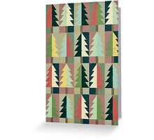 Christmas Trees Greeting Card