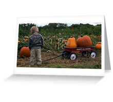 James and the great pumpkins Greeting Card