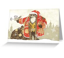Steampunk Santa Greeting Card