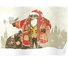 Steampunk Santa Poster