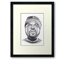 ice cube drawing Framed Print
