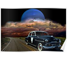 1952 Plymouth Police Car Poster
