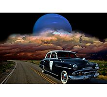 1952 Plymouth Police Car Photographic Print
