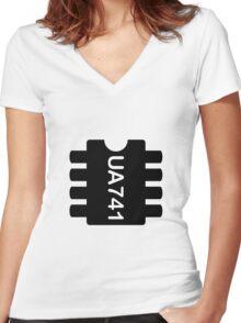 UA-741 Women's Fitted V-Neck T-Shirt