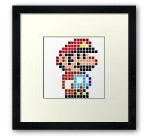 Mario bros pixel Framed Print
