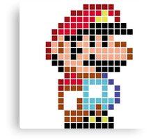 Mario bros pixel Canvas Print