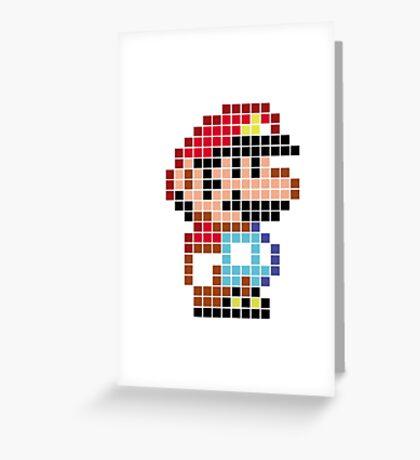 Mario bros pixel Greeting Card