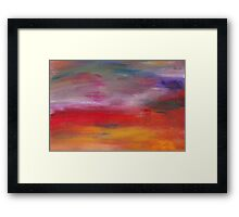 Abstract - Guash & Acrylic - Pleasant Dreams Framed Print