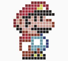 Mario bros pixel One Piece - Long Sleeve