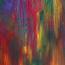 Abstract - Tempera - Night Fall by Mike  Savad