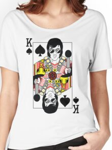 Elvis Presley Vegas Style Playing Card Women's Relaxed Fit T-Shirt