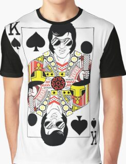 Elvis Presley Vegas Style Playing Card Graphic T-Shirt