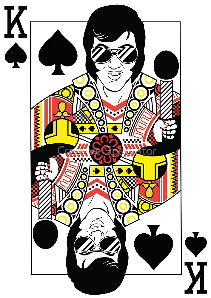 Elvis Presley Vegas Style Playing Card by Creative Spectator