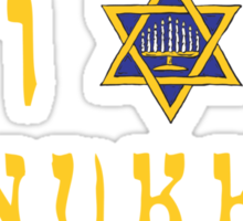 "Hanukkah ""I Love Hanukkah"" T-Shirt Sticker"